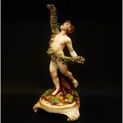 Putto in porcellana policroma- Germania - Primi'900