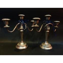 Coppia di candelabri in sheffield - Inghilterra - metà '900